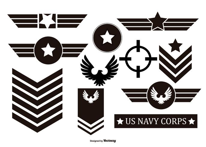 millitary vector emblems collection download free vector art