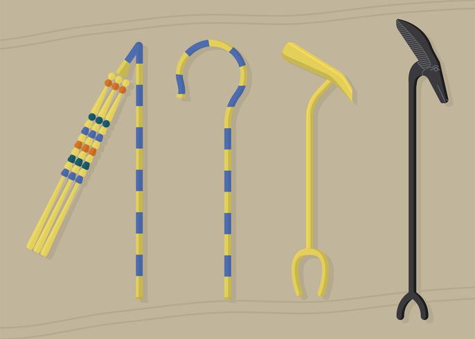 Scepter van Egypte Era Set Vector