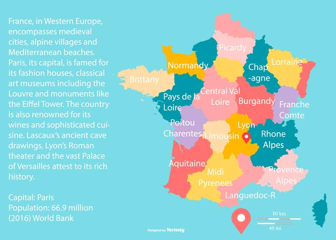 Map Of Provence France With Cities.Colorful France Maps With Regoins Download Free Vector Art Stock