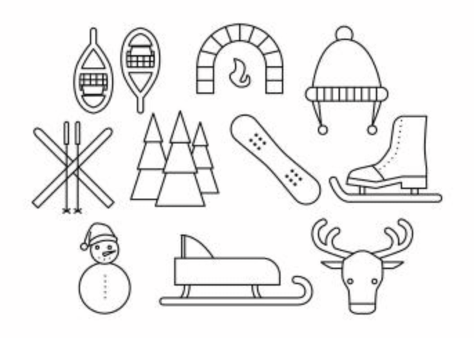 Free Winter Line Icon Vector