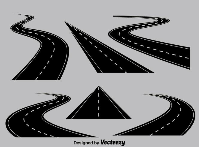 Perspectief Highway Collection Vector
