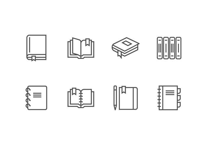 libro conjunto de vectores icono