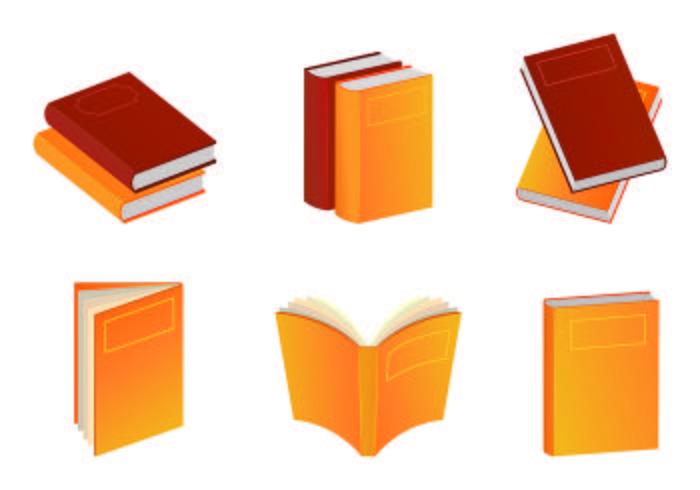 vectores de libros calientes