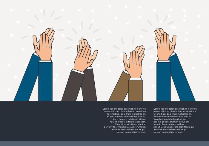 Hands Clapping Vector