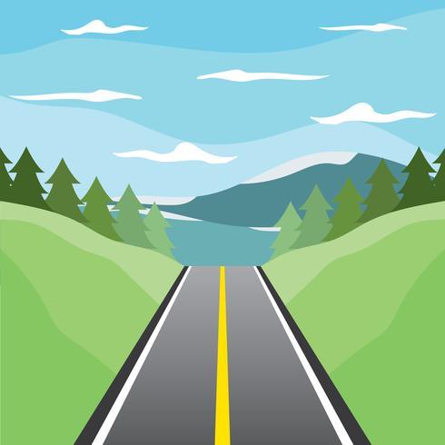 Motorväg till sjönvektorn