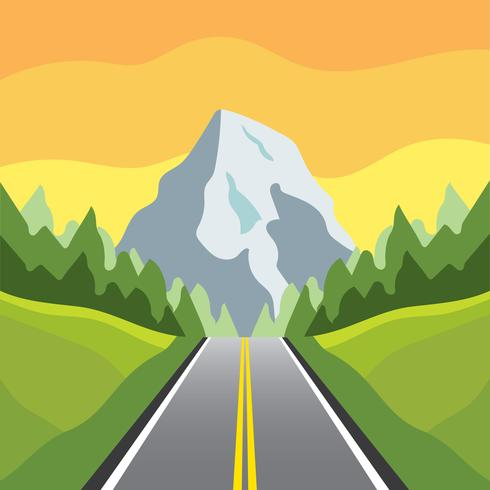 Highway to the Mountain Vector