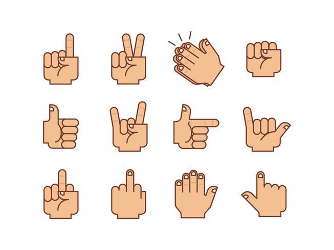 Hands Gestures Vector Pack