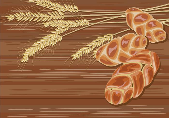 Traditional Challah Bread on Wood Background Vector