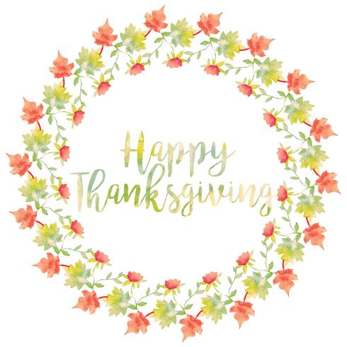 Vector Thanksgiving Wreath