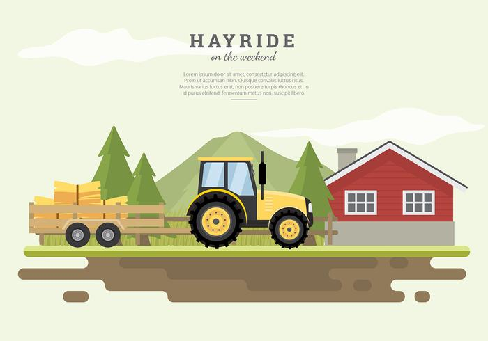 Hayride Farm House Free Vector