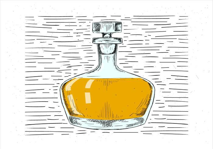 Fri handdragen dricka illustration