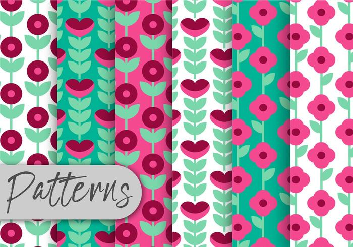 Geometric Floral Pattern Set