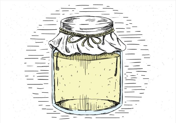 Free Hand Drawn Vector Jar