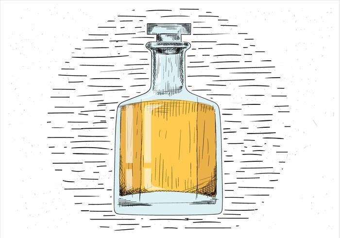 fri handgjord vektor whisky