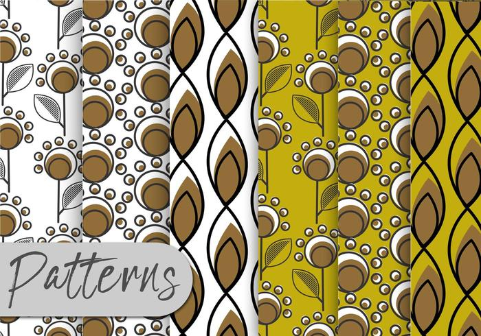 Conjunto de patrones de ornamento decorativo