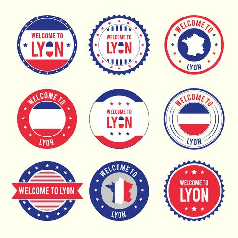 Lyon Badges Vector