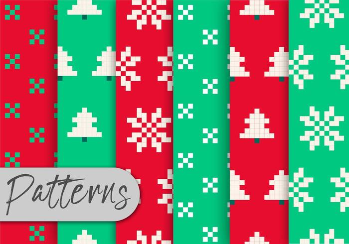 Christma Pixel Pattern Set