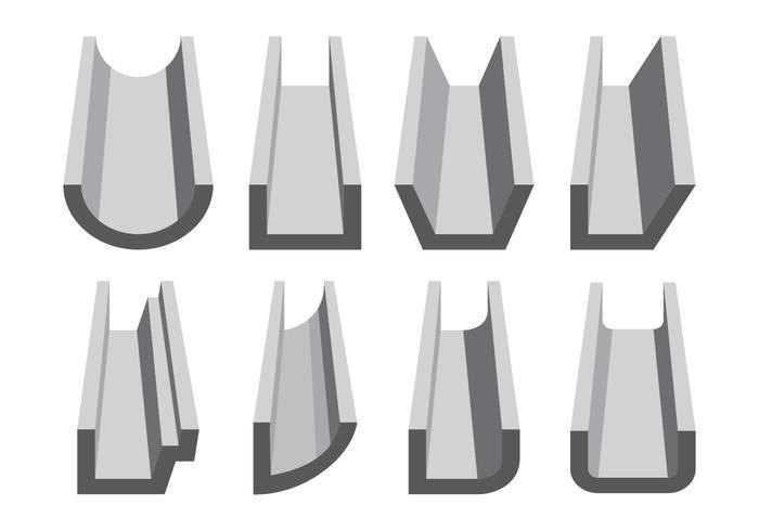 Rinne Symbole festlegen vektor