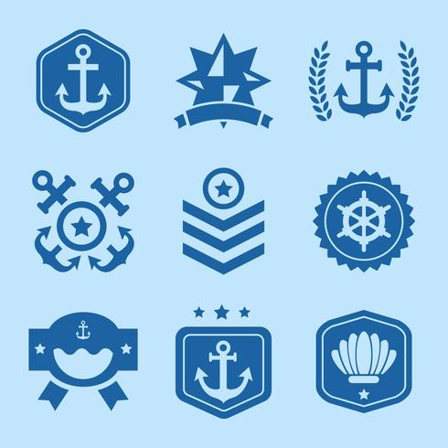 Gratis Nautical Logo Vector