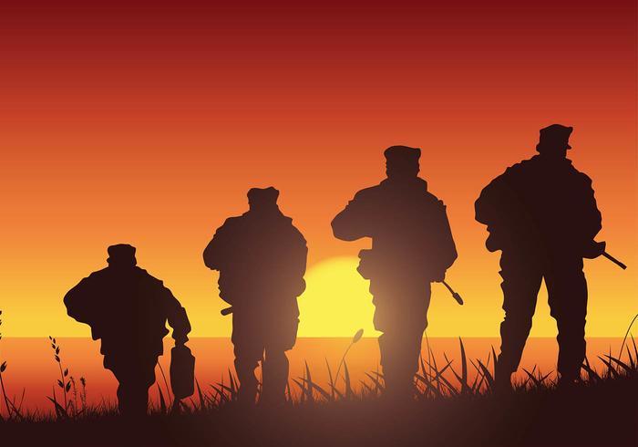 Navy Seal Training Silhouette Gratis Vector