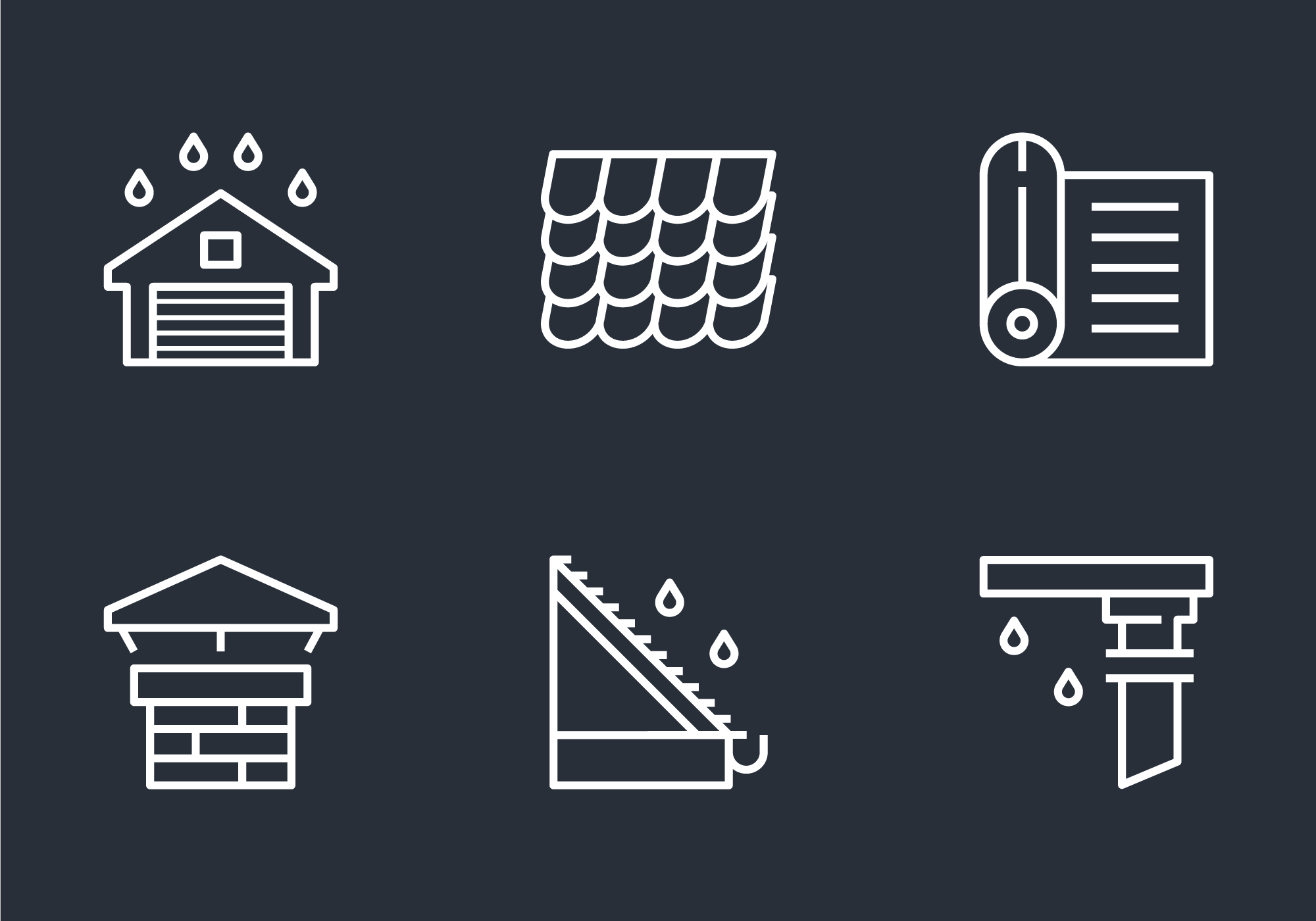 Gutter Roof Outline Icon Download Free Vectors Clipart