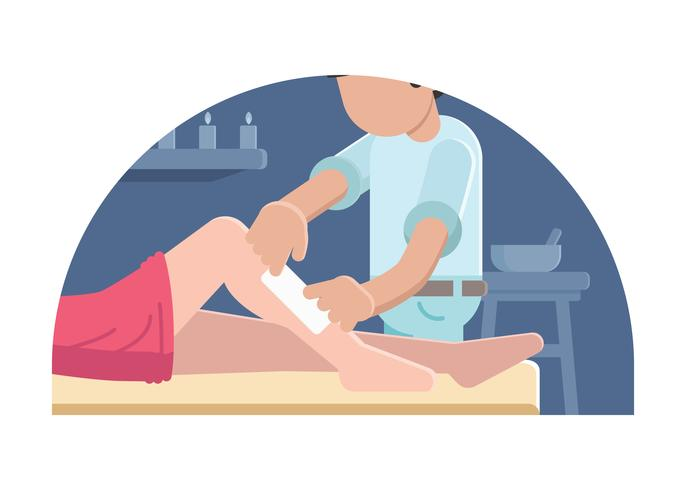 Woman Doing Waxing Illustration