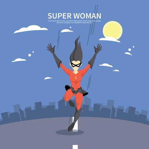 Illustrazione di Superwoman gratis