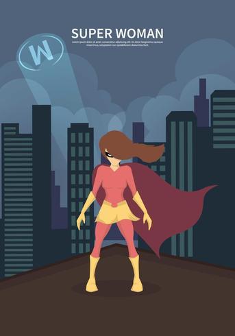 Free Superwoman Illustration