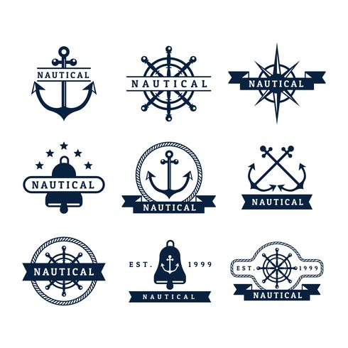 Gratis Nautical Vector Badges