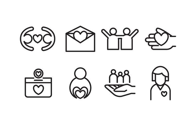 välgörenhets ikon pack