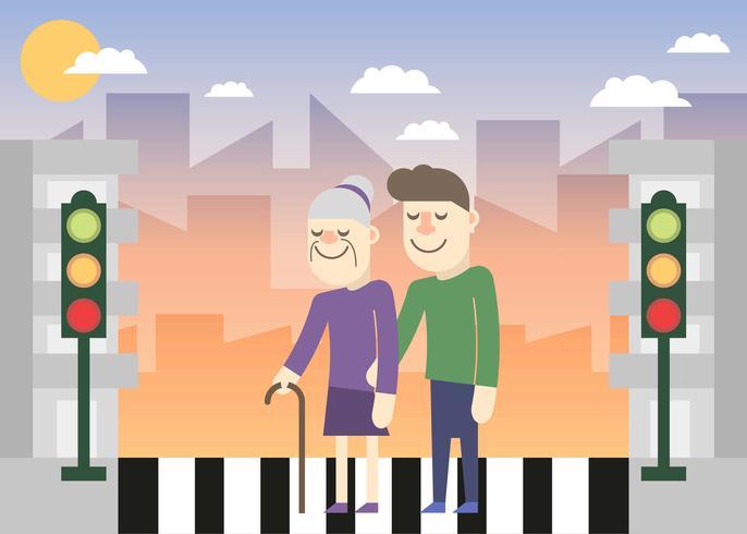 Vänlighet i City Illustration Vektor