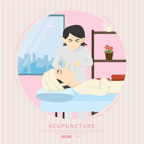 Free Acupuncture Therapist Illustration