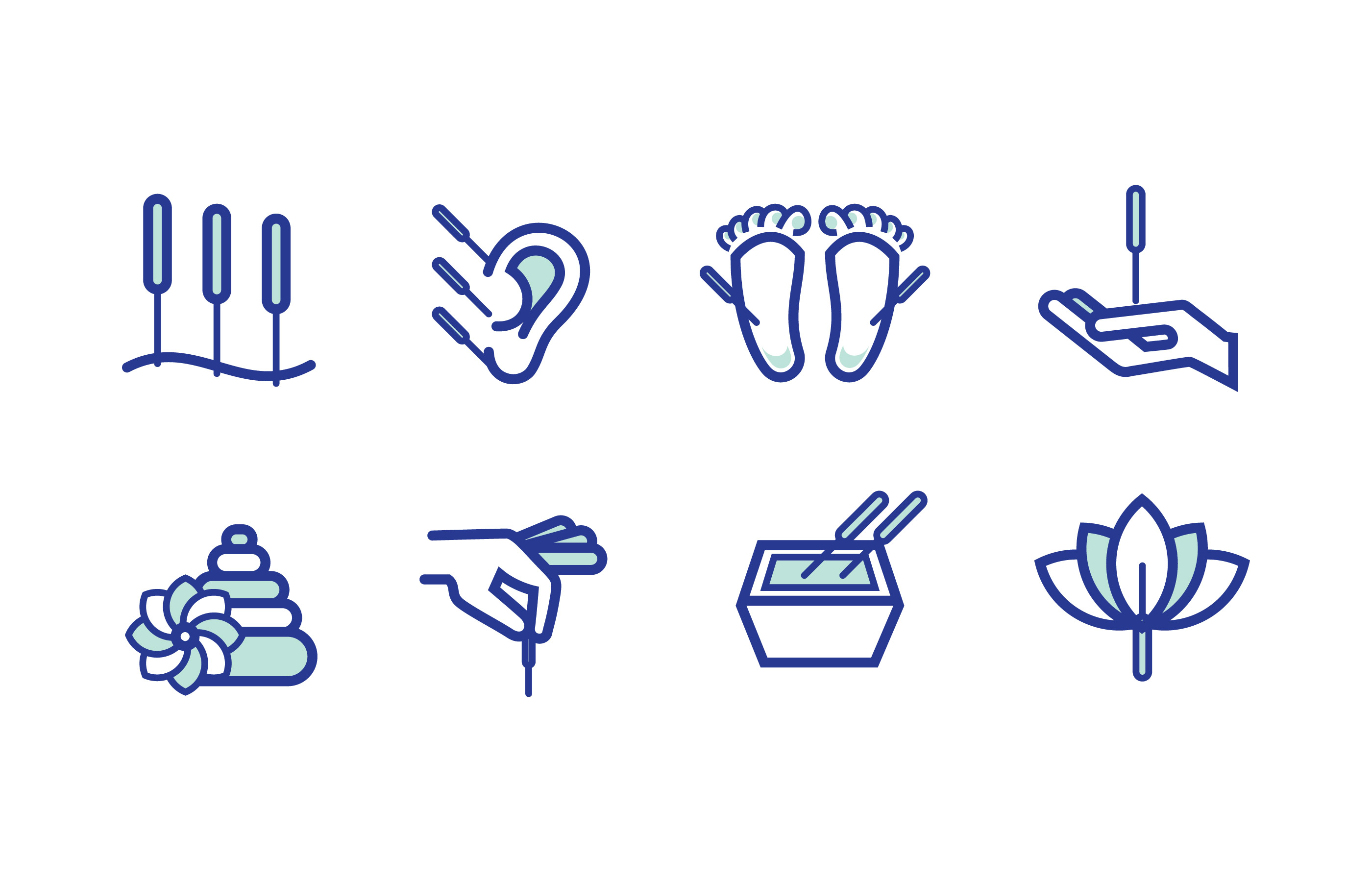 acupuncture icon pack download free vector art stock