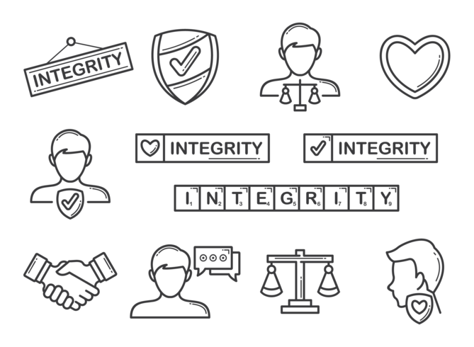 Integrity Icons Vector