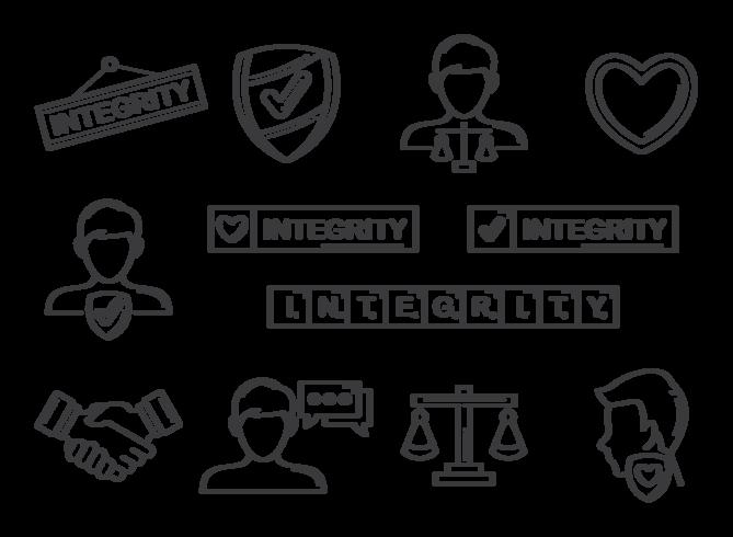 Integritets ikoner Vector