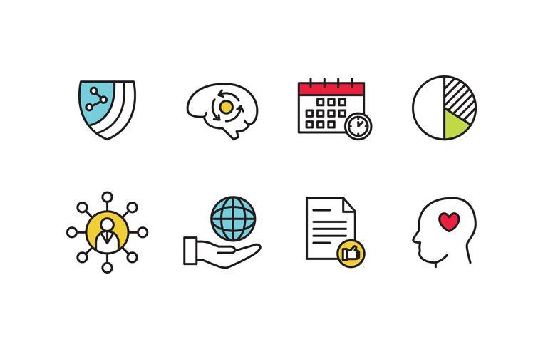 sociale verantwoordelijkheid icon set vector