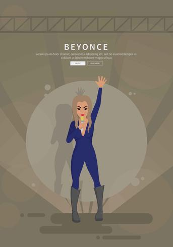 Free Beyonce Perform Illustration