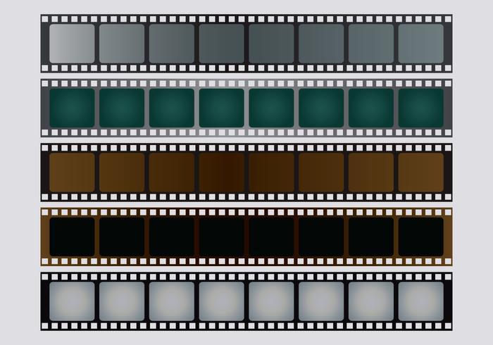 Foto negativ vektorsats