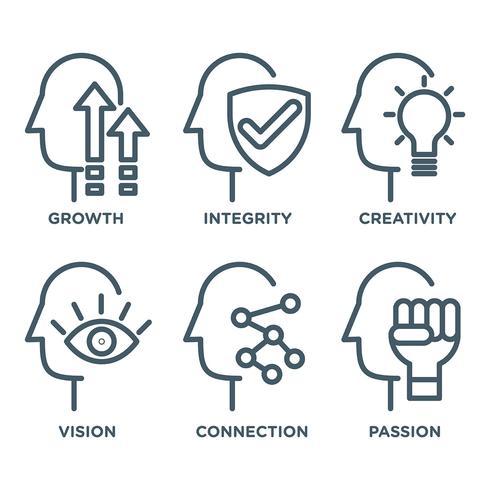 Iconos de Vector de progreso personal