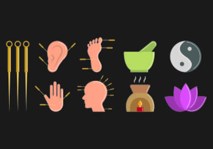 Set Of Acupuncture Icon