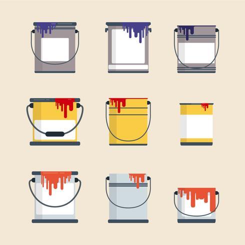 plana färgkärlsvektorer
