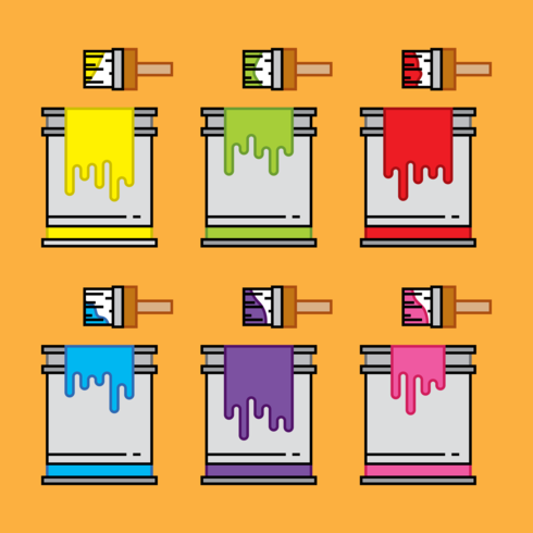 Paint Pot Icon Vectors