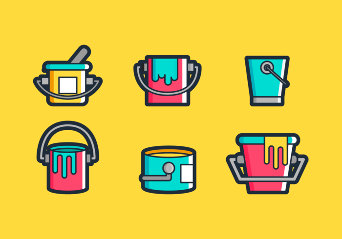Måla Pot Free Vector Pack