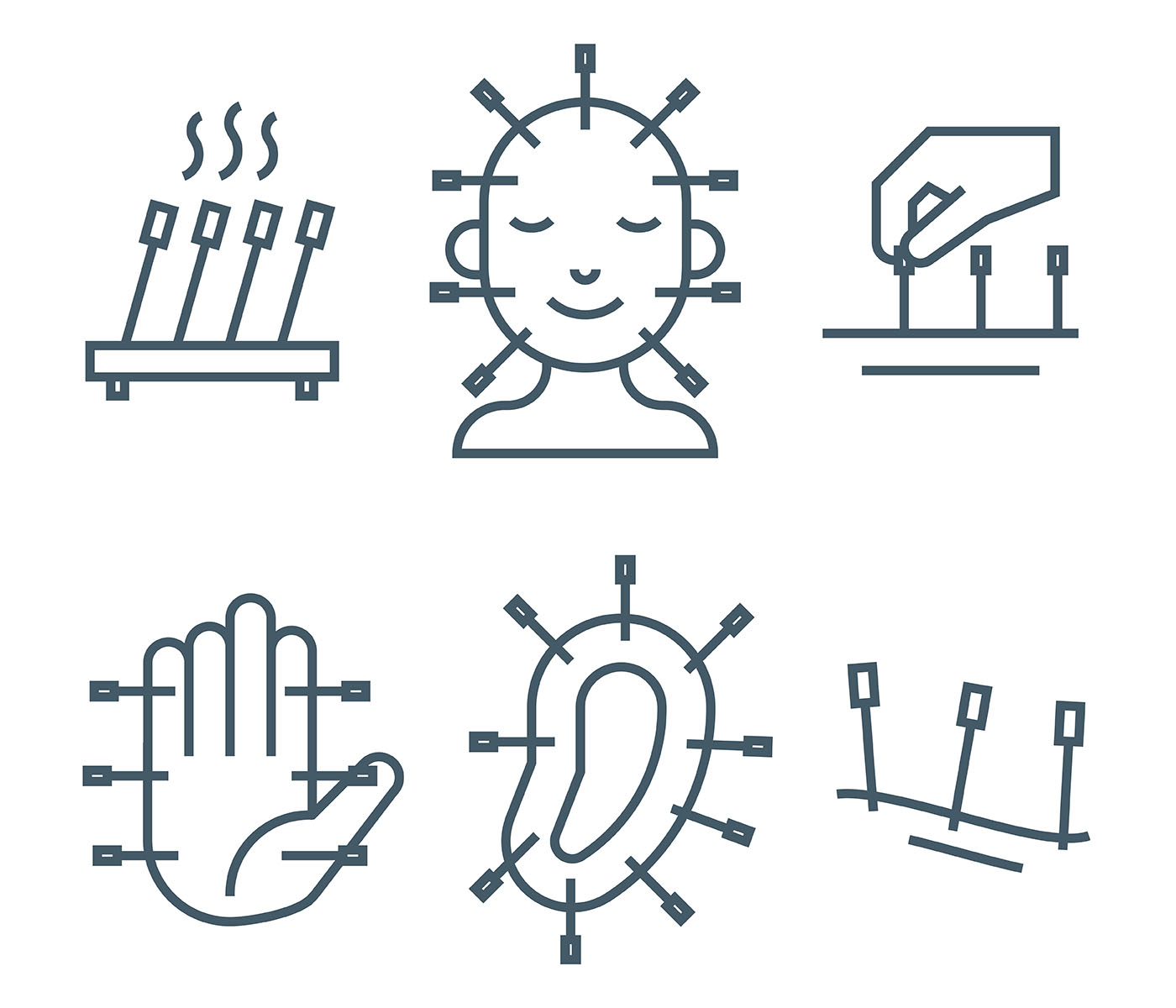 acupuncture vector icons download free vector art stock