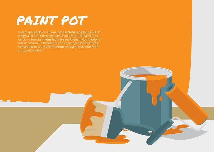 Paint Pot Template Free Vector