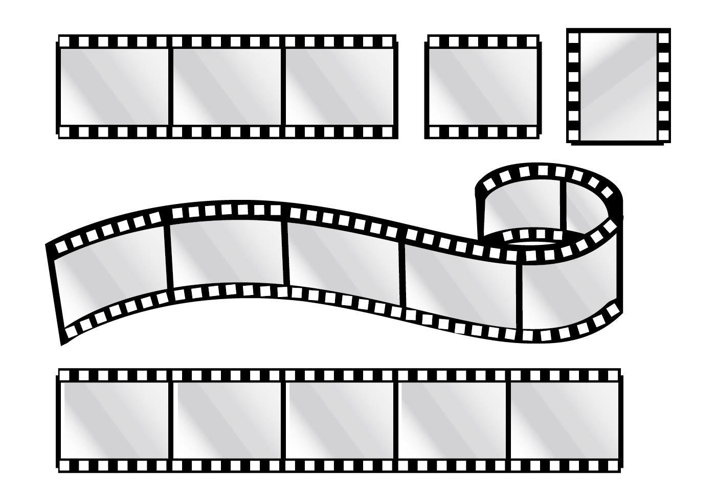Рисунок кинопленки для оформления