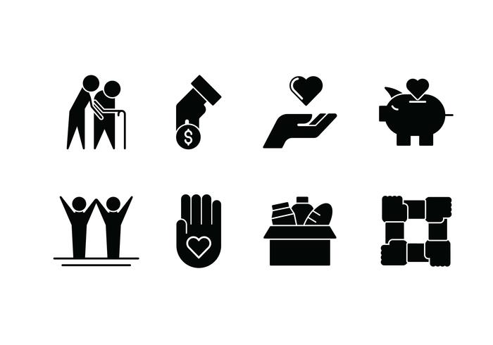 Kindness set vector icon