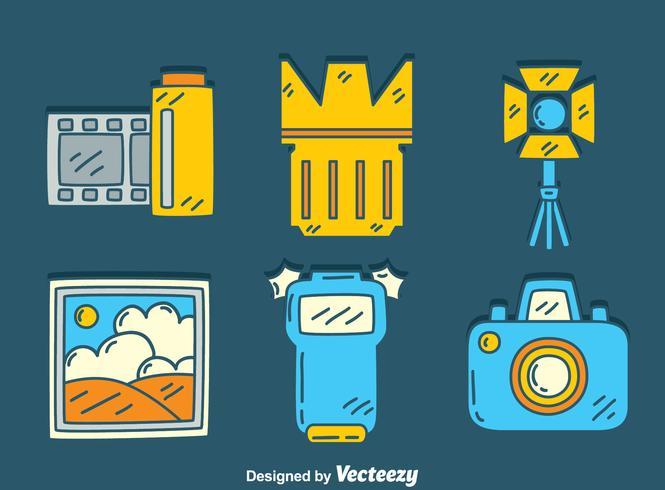 Hand Drawn Camera Element Vector