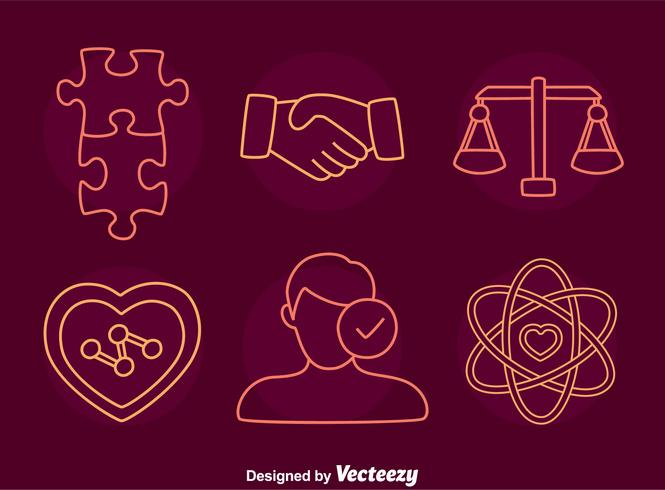 Integrity Line Icons Vector