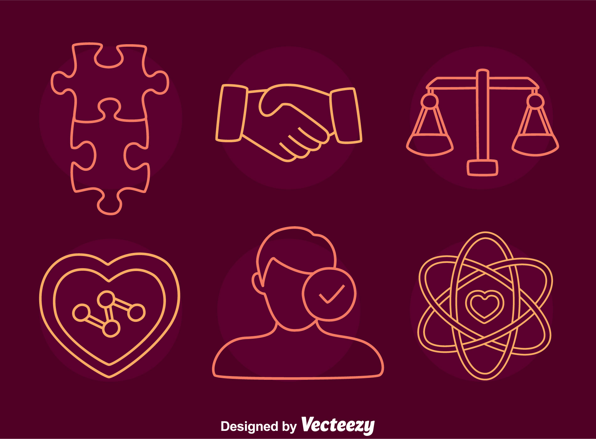 Integrity Line Icons Vector Download Free Vector Art